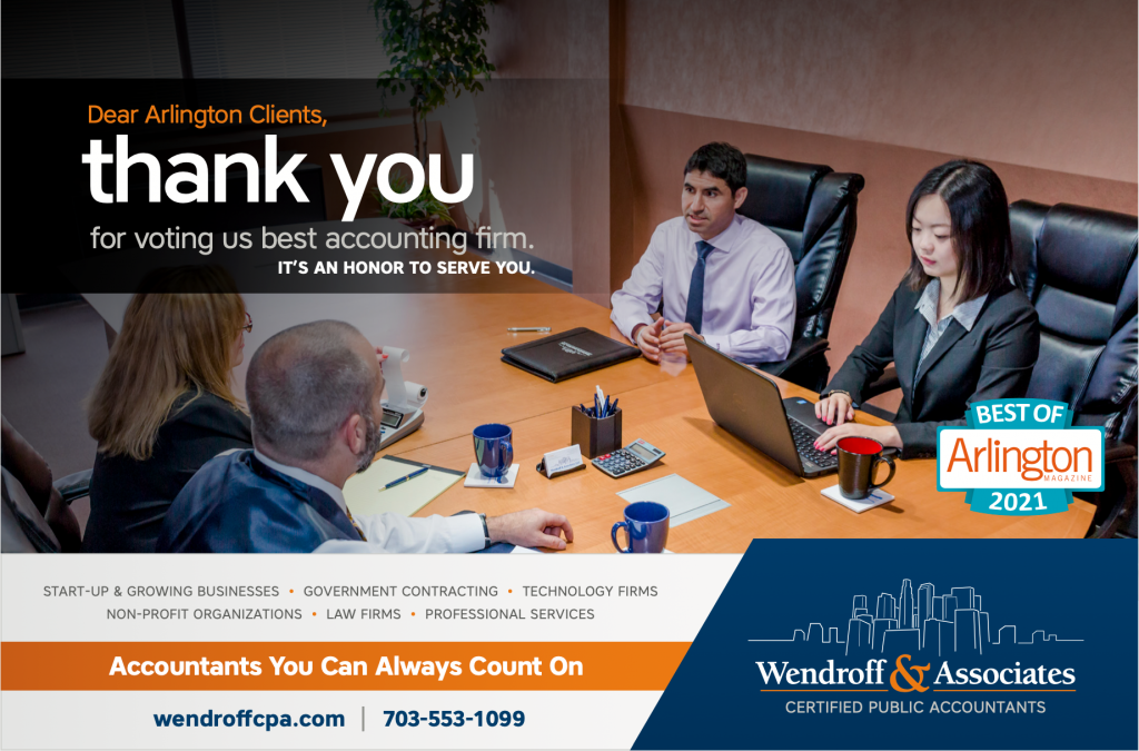 Wendroff Voted Best Accounting Firm in Best of Arlington 2021